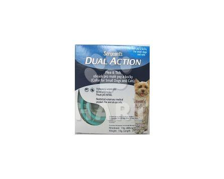 Sergeants Dual Action, antiparazitní obojek pro malé psy a kočky, dl.34cm