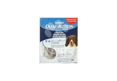 Sergeanťs Dual Action, antiparazitní obojek pro střední plemena psů, obvcod krku 50cm, dl.obojku 60cm