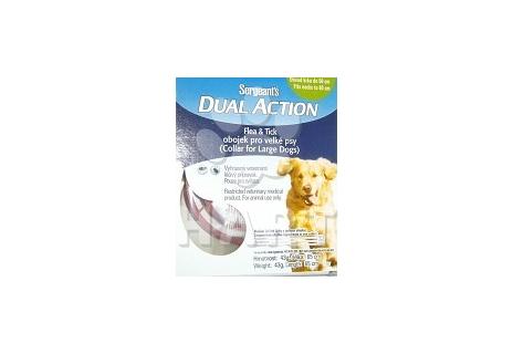 Sergeanťs Dual Action, antiparazitní obojek pro velká plemena psů, dl.65