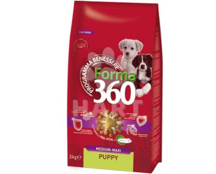 FORMA 360 dog Puppy medium/maxi 12kg + konzerva ZDARMA