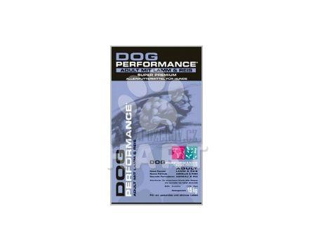Dog Performance Adult lamb and rice (jehně s rýží)  15kg  DÁREK ORION čokoláda 100g