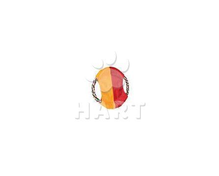 Aport - létající talíř, bavlněný kruh s nylon. výplní 25cm