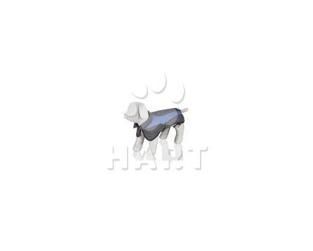 Softshellová vesta AVALLON, modro/šedá s reflexními znaky    vel.L / 62cm