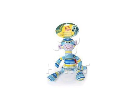 E.T. -textilni hracka, modra barva, pískací, vel.34cm