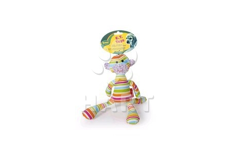 E.T.-textilni hracka, duhova barva, píská vel.34cm