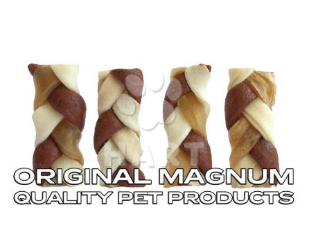 "MAGNUM Rawhide Small braid BROWN 2,5"", cca6,5cm 1ks (pamlsky)"