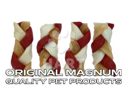 "MAGNUM Rawhide Small braid RED 2,5"", vel.cca 6,5cm 1ks (pamlsky)"