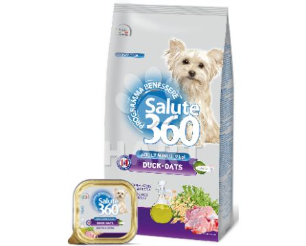 Benessere dog SALUTE 360 mini adult small KACHNA +oves      1kg