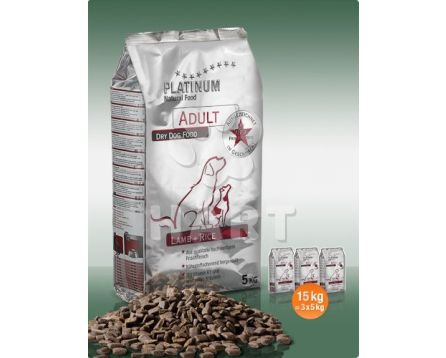 Platinum Natural Food ADULT Lamb+rice(pro dospělé psy) 5kg