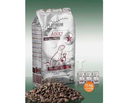 Platinum Natural Food ADULT Lamb+rice(pro dospělé psy) 15kg