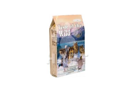 Taste of the Wilde Wetlands Canine(kachna, kuře, křepelka, krůta a mořská ryba)  12,2kg