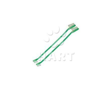 Zubní kartáček plastový, oboustranný dl.22cm  1ks
