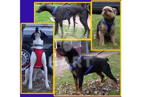 Postroj na psa SHORT podšitý vel.XXXL(krk 60-65cm, hrudník 95-125cm)