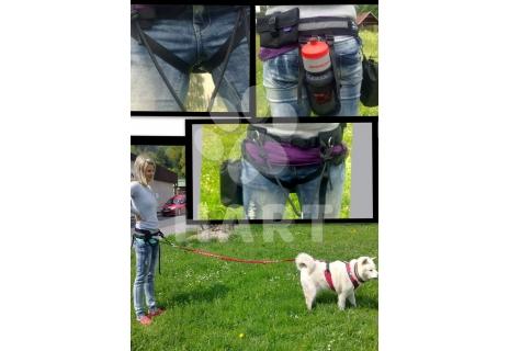 Multifunkční sedák vel.L(obv.pasu 70-95cm) pro sport se psem