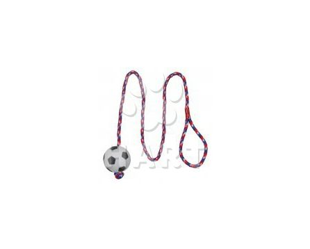 Vrhací míč z mechové gumy na šňůře prům.6cm/dl.1m, TRIXIE