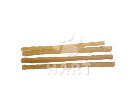 Tyčinka z buvolí kůže kroucená přírodní 12,5 cmx4-6mm