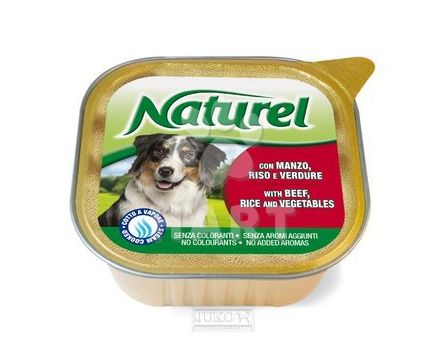Naturel dog vanička Beef,Rice&Vegetables 300g