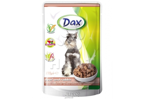 Dax kapsička DOG HOVĚZÍ+KRÁLÍK 100g