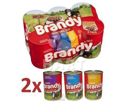 Brandy Variety Chunks in Loaf-kousky v sekaném mase  395g