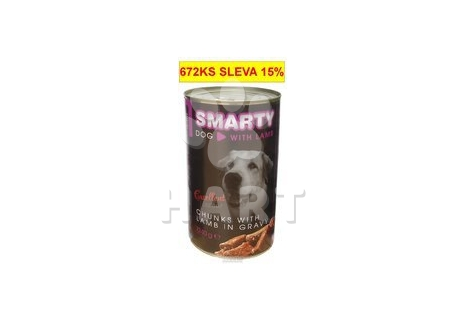 Konzerva SMARTY chunks DOG LAMB-jehně 1240g