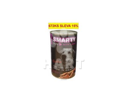 Konzerva SMARTY chunks DOG LAMB-jehně 1240g