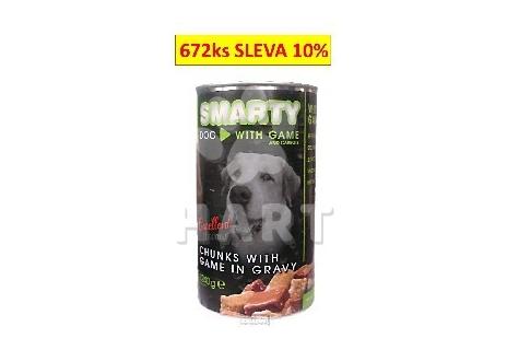 Konzerva SMARTY chunks DOG VENISON - zvěřina1240g