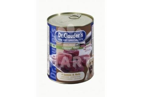 Konzerva dr.Clauder's jehně s rýží(92% masa)    820g