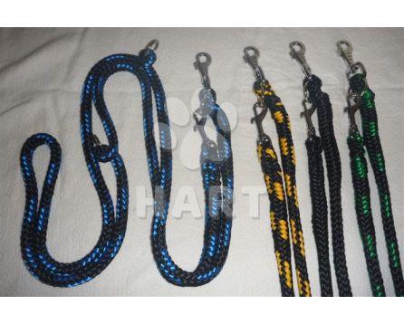 Vodítko přepínací, zapletený nylon, kulaté-průměr 12mm/ dl.250cm, 2karabiny    1ks