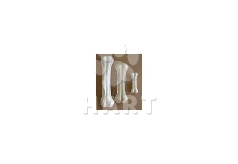 Kost z buvolí kůže s kalciem bílá  8cm