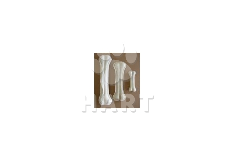 Kost z buvolí kůže s kalciem bílá  27cm