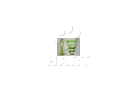 Uzel z buvolí kůže s xylitolem zelený 7,5cm