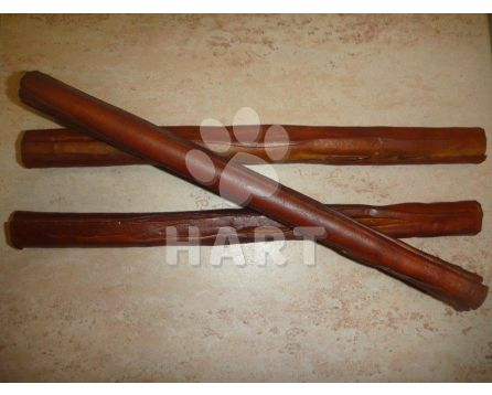 Tyč z buvolí kůže rolovaná uzená 25cm