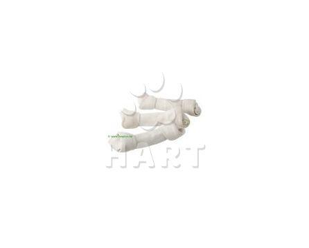 Uzel z buvolí kůže s kalciem bílý 13cm   40-45g
