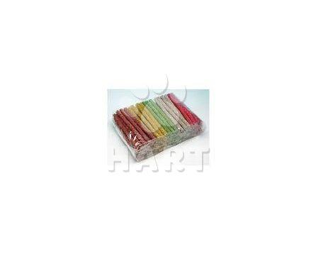 Vitamínové barevné tyčinky z buvolí kůže prům.9-10mm, dl.12,5cm/100ks