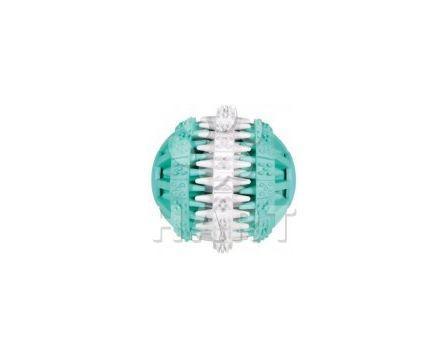 Denta Fun míč s mátou 7cm zel./bílý Trixie, na zuby i hraní