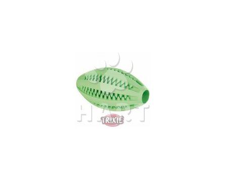 Denta Fun Rugby míč s mátou 11cm zelený Trixie, na zuby i hraní