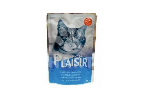 Plaisir Cat kapsička pstruh a krevety 100 g