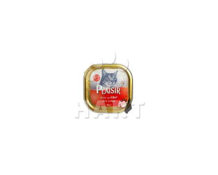Plaisir Cat vanička Hovězí 100g