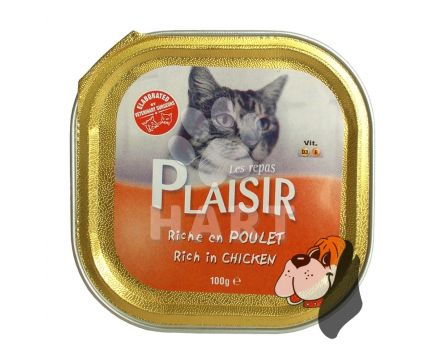 Plaisir Cat vanička Kuřecí 100g