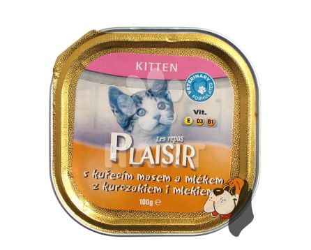 Plaisir Cat vanička Kitten 100g