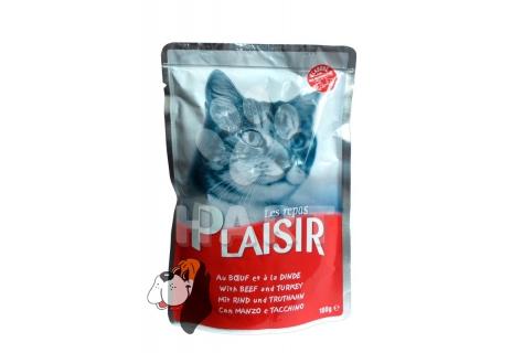 Kapsička Plaisir Cat hovězí + krůtí 100g