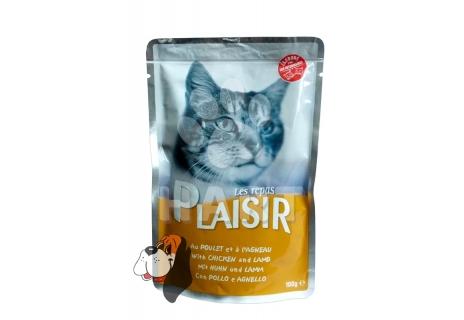 Kapsička Plaisir Cat kuřecí + jehněčí 100g
