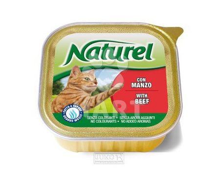 Naturel cat vanička-Beef-hovězí 100g
