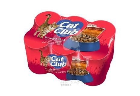 Cat Club Mix Chunks in Gravy- kousky masa v OMÁČCE, různé druhy  400g