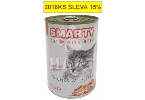 SMARTY chunks CAT  BEEF-hovězí  410g