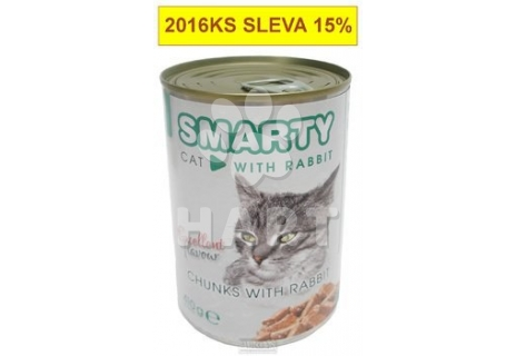 SMARTY chunks CAT Rabbit- KRÁLÍK   410g