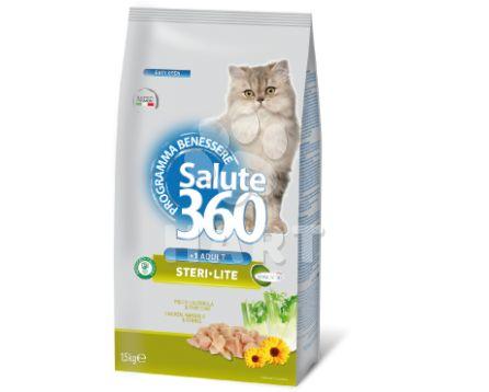 Benessere cat SALUTE 360  Steri•Lite (kastráti)     1kg