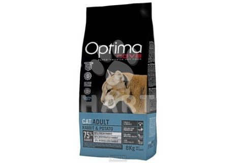 OPTIMAnova CAT ADULT RABBIT & POTATO grain free - BEZ OBILOVIN  2kg