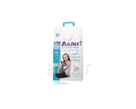 ASAN Cat FRESH Blue 10 litrů - ekologické stelivo wc cat