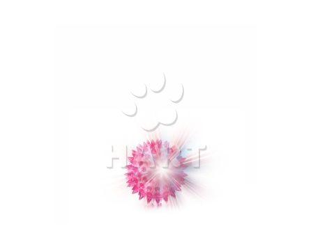 Plovoucí, blikající LED míček z odolné termoplastické pryže prům.6,5cm